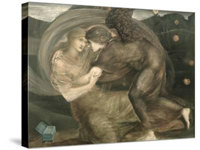 Cupid and Psyche-Edward Burne-Jones-Stretched Canvas Print