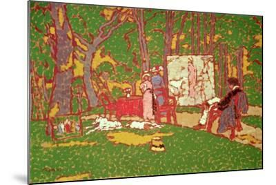 Painting Lazarine and Anella in the Park. it's Hot, 1910-Jozsef Rippl-Ronai-Mounted Giclee Print