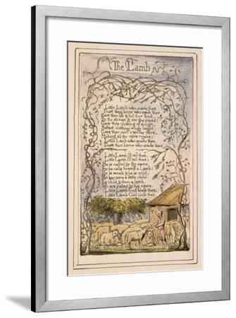 Songs of Innocence and of Experience Plate 7: the Lamb, C.1789-94-William Blake-Framed Giclee Print