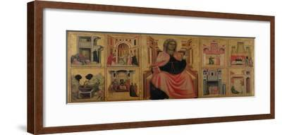 St. Cecilia and Scenes from Her Life, C.1304-Master of St^ Cecilia-Framed Giclee Print