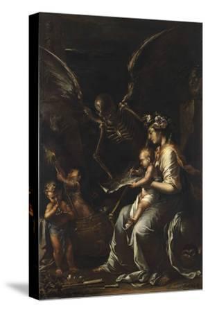 Human Frailty, C.1656-Salvator Rosa-Stretched Canvas Print