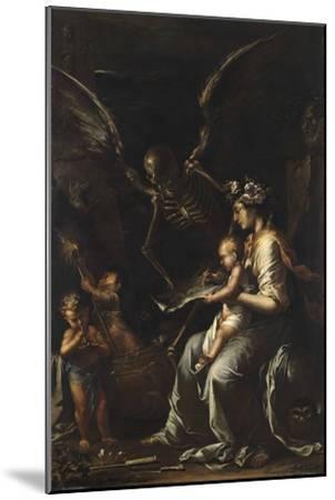 Human Frailty, C.1656-Salvator Rosa-Mounted Giclee Print