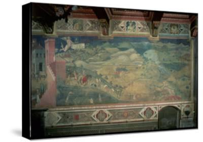 Effects of Good Government in the Countryside, 1338-40-Ambrogio Lorenzetti-Stretched Canvas Print
