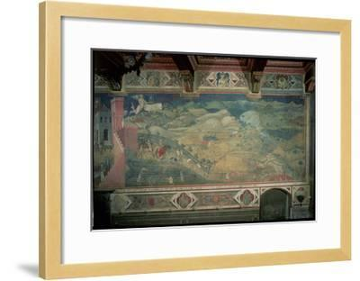 Effects of Good Government in the Countryside, 1338-40-Ambrogio Lorenzetti-Framed Giclee Print