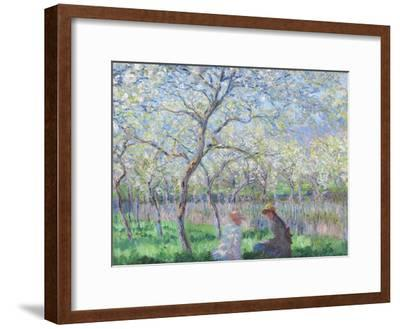 Springtime, 1886-Claude Monet-Framed Giclee Print