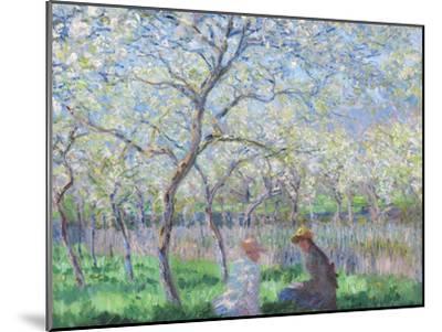 Springtime, 1886-Claude Monet-Mounted Giclee Print