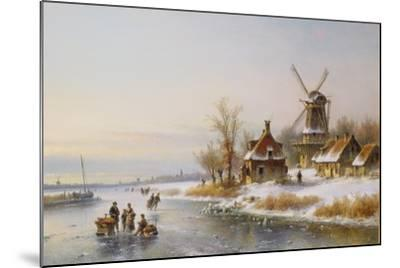 Winter Landscape with a Windmill, 19th Century-J. Kleyn Lodewyk-Mounted Giclee Print