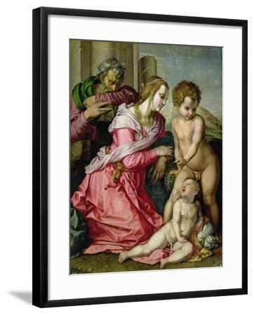 The Holy Family-Jacopo da Carucci Pontormo-Framed Giclee Print