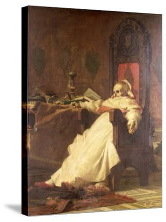Death of Pope Boniface VIII (1235-1303)-Nicholo Barabino-Stretched Canvas Print