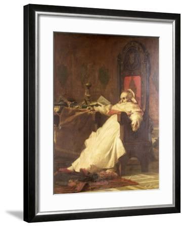 Death of Pope Boniface VIII (1235-1303)-Nicholo Barabino-Framed Giclee Print