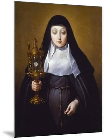 St Claire Holding a Monstrance with the Eucharist-Frans Luyckx Or Leux-Mounted Giclee Print