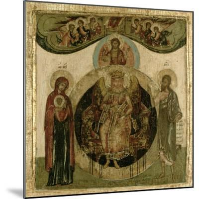 Russian Icon of Sophia, the Holy Wisdom, Enthroned in the Form of a Fiery Winged Angel, Moscow…--Mounted Giclee Print