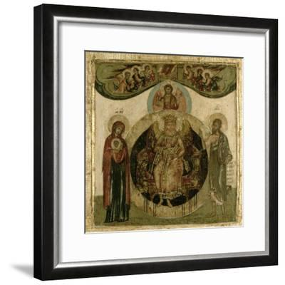 Russian Icon of Sophia, the Holy Wisdom, Enthroned in the Form of a Fiery Winged Angel, Moscow…--Framed Giclee Print