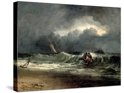Fishermen Upon a Lee-Shore in Squally Weather-J^ M^ W^ Turner-Stretched Canvas Print