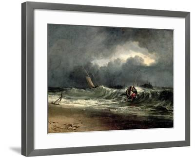 Fishermen Upon a Lee-Shore in Squally Weather-J^ M^ W^ Turner-Framed Giclee Print
