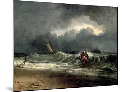 Fishermen Upon a Lee-Shore in Squally Weather-J^ M^ W^ Turner-Mounted Giclee Print