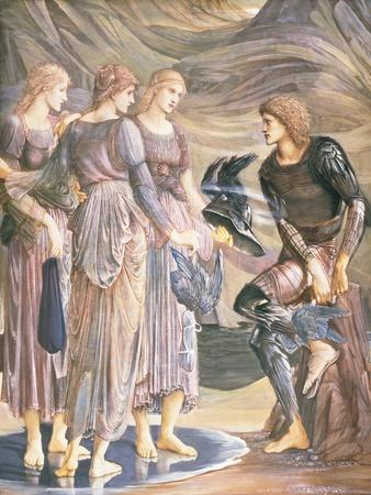 Perseus and the Sea Nymphs, C.1876-Edward Burne-Jones-Framed Giclee Print