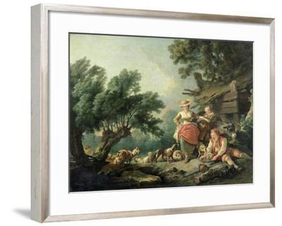 Pastoral Scene-Jean-Baptiste Huet-Framed Giclee Print