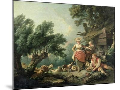 Pastoral Scene-Jean-Baptiste Huet-Mounted Giclee Print