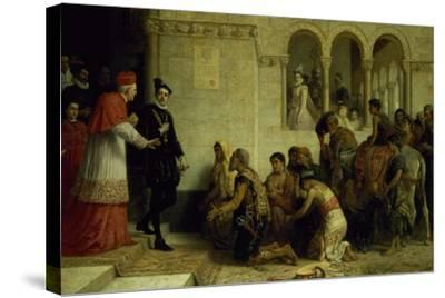 The Supplicants. the Expulsion of the Gypsies from Spain, 1872-Edwin Longsden Long-Stretched Canvas Print