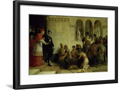 The Supplicants. the Expulsion of the Gypsies from Spain, 1872-Edwin Longsden Long-Framed Giclee Print