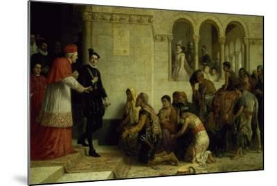 The Supplicants. the Expulsion of the Gypsies from Spain, 1872-Edwin Longsden Long-Mounted Giclee Print