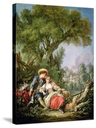 The Rest, 1764-Francois Boucher-Stretched Canvas Print