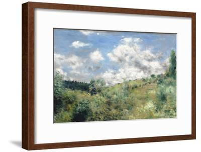 The Gust of Wind, C.1872-Pierre-Auguste Renoir-Framed Premium Giclee Print