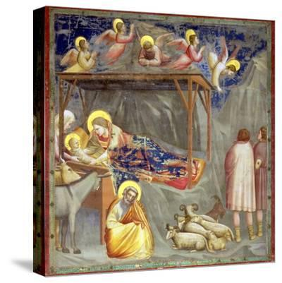 The Nativity, C.1305-Giotto di Bondone-Stretched Canvas Print