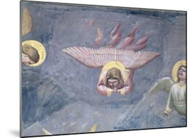 Angel, from the Lamentation, C.1305 (Detail)-Giotto di Bondone-Mounted Giclee Print