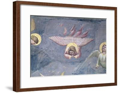 Angel, from the Lamentation, C.1305 (Detail)-Giotto di Bondone-Framed Giclee Print