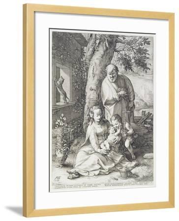 The Holy Family with St. John, 1593-Hendrik Goltzius-Framed Giclee Print