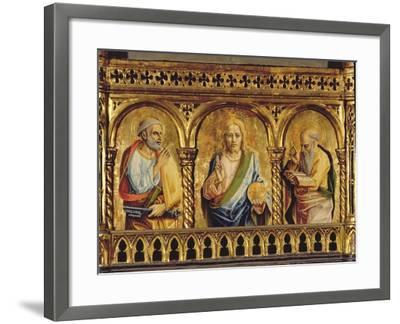Christ with St. Peter and St. Paul, Detail from the Sant'Emidio Polyptych (Detail)-Carlo Crivelli-Framed Giclee Print