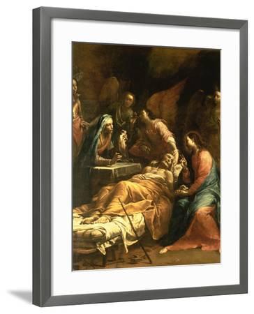 The Death of St. Joseph, C.1712-Giuseppe Maria Crespi-Framed Giclee Print