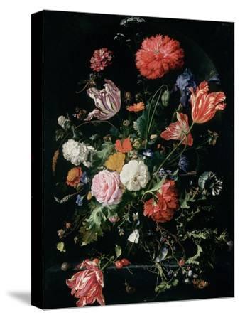 Flowers in a Glass Vase, C.1660-Jan Davidsz^ de Heem-Stretched Canvas Print