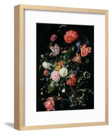 Flowers in a Glass Vase, C.1660-Jan Davidsz^ de Heem-Framed Giclee Print