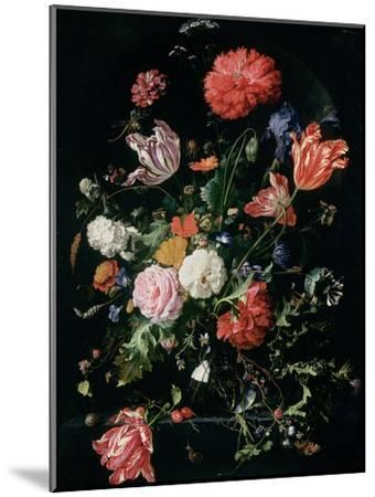 Flowers in a Glass Vase, C.1660-Jan Davidsz^ de Heem-Mounted Giclee Print