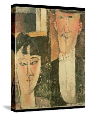 Bride and Groom (The Couple), 1915-16-Amedeo Modigliani-Stretched Canvas Print