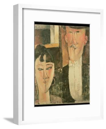 Bride and Groom (The Couple), 1915-16-Amedeo Modigliani-Framed Giclee Print