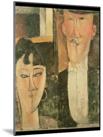 Bride and Groom (The Couple), 1915-16-Amedeo Modigliani-Mounted Giclee Print