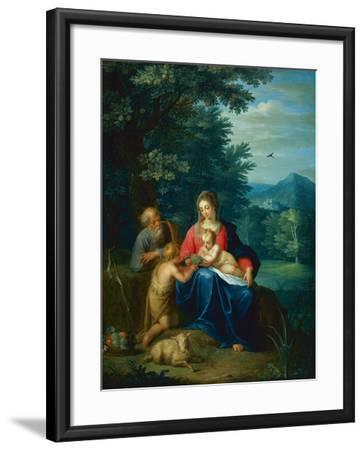 The Holy Family with the Infant St. John the Baptist-Pieter van Avont-Framed Giclee Print