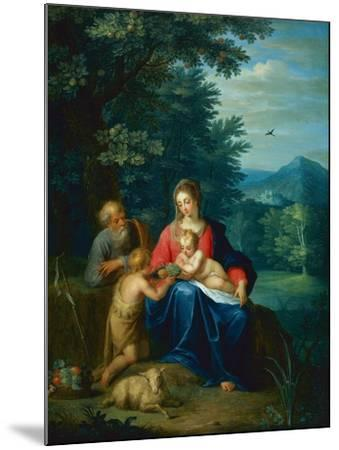 The Holy Family with the Infant St. John the Baptist-Pieter van Avont-Mounted Giclee Print