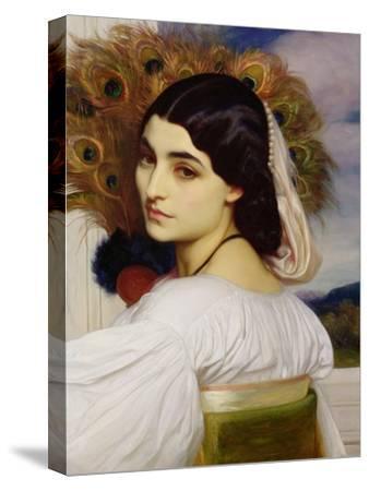 Pavonia, 1859-Frederick Leighton-Stretched Canvas Print