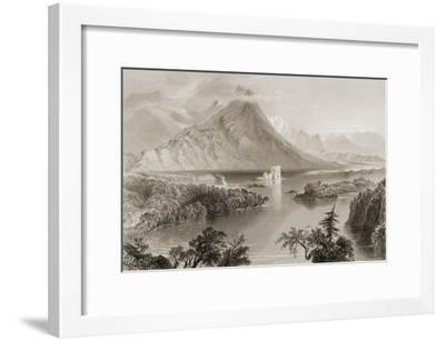 Ballynahinch, Connemara, County Galway, Ireland, from 'scenery and Antiquities of Ireland' by…-William Henry Bartlett-Framed Giclee Print