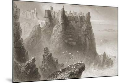Dunluce Castle, County Antrim, Northern Ireland, from 'scenery and Antiquities of Ireland' by…-William Henry Bartlett-Mounted Giclee Print