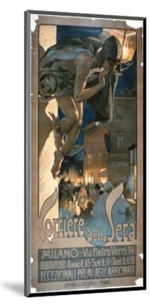 Poster Advertising the 'Corriere Della Sera', Printed in Milan, 1898-Adolfo Hohenstein-Mounted Giclee Print