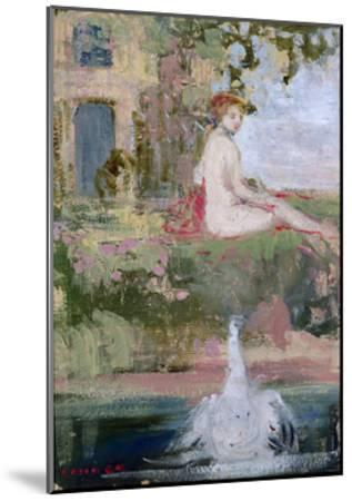 Leda and the Swan-Charles Edward Conder-Mounted Giclee Print