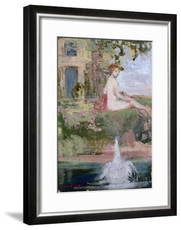 Leda and the Swan-Charles Edward Conder-Framed Giclee Print