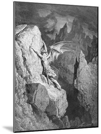 Satan's Flight Through Chaos, from 'Paradise Lost' by John Milton (1608-74) Engraved by Adolphe…-Gustave Dor?-Mounted Giclee Print