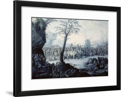 Chinoiserie Landscape with Figures and Animals-Jean Baptiste Pillement-Framed Giclee Print